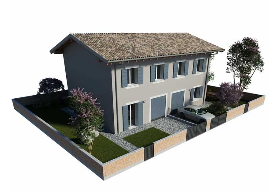 villa bifamiliare a Renazzo