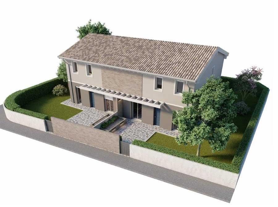 villa bifamiliare a Cento